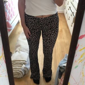 Floral pants flared